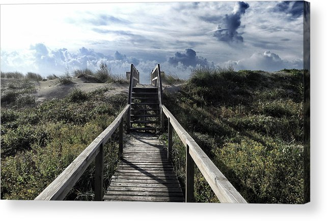 North Carolina Acrylic Print featuring the photograph Beautiful Day At Cape Hatteras by Patricia Januszkiewicz