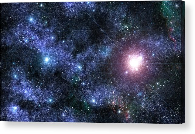Space Acrylic Print featuring the photograph Beyond The Stars by Jayden Bell