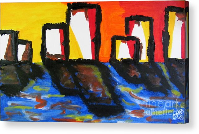 Paintings Acrylic Print featuring the painting Depression Begins by Greg Mason Burns