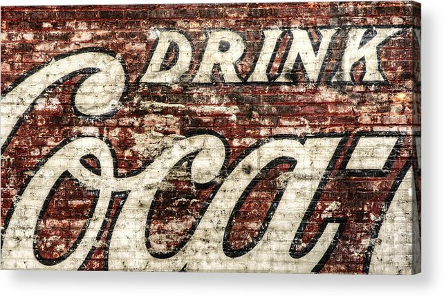 Red Acrylic Print featuring the photograph Drink Coca-cola 2 by Scott Norris