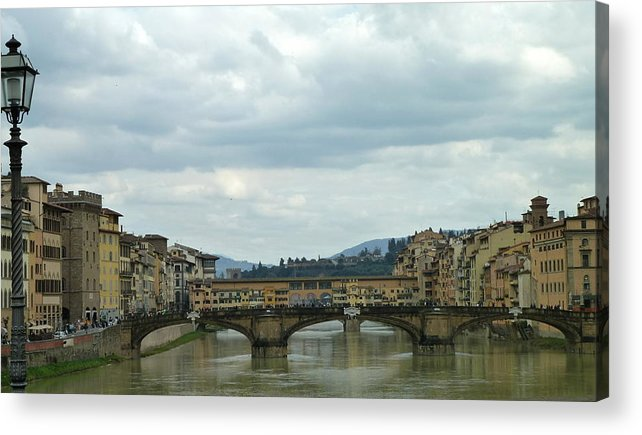 Travel Acrylic Print featuring the photograph Florence. Ponte Vecchio by Anna and Sergey