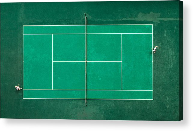 Tennis Acrylic Print featuring the photograph Game! Set! Match! by Fegari