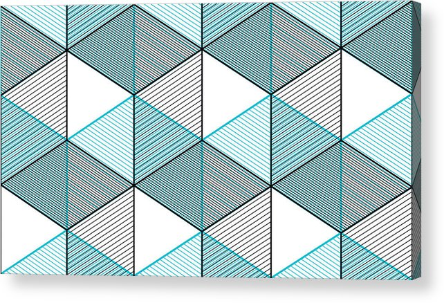 Geometric 3d Lines Abstract Seamless Pattern Vector Background Technology Style Engineering Line Drawing Endless Illustration Usable For Fabric