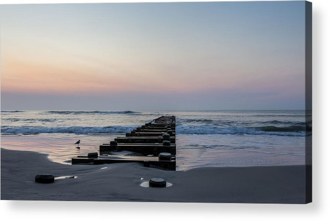 Seascape Beach Acrylic Print featuring the photograph Infinity by Charles Aitken