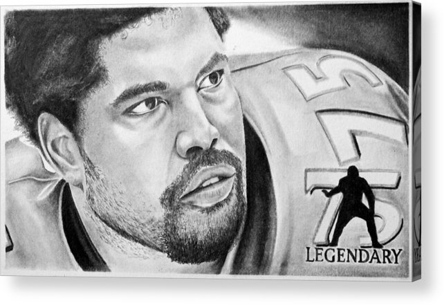 Nfl Acrylic Print featuring the drawing Jonathan Ogden by Don Medina