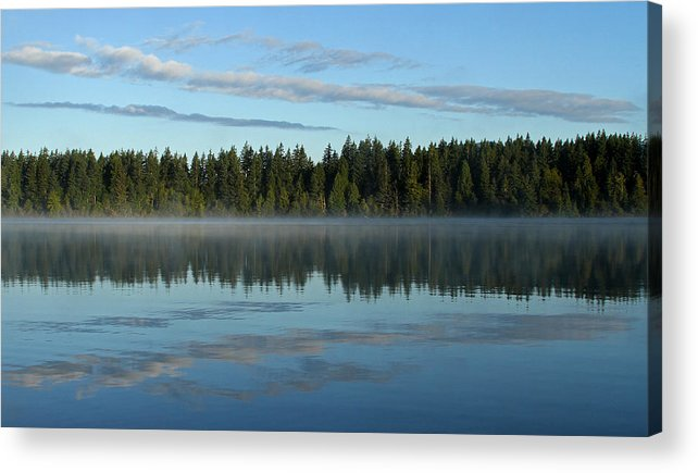 Lake Nahwatzel Acrylic Print featuring the photograph Morning Reflection by Shari Sommerfeld