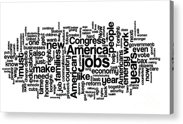Barack Obama Acrylic Print featuring the photograph Obama State Of The Union Address - 2013 by David Bearden