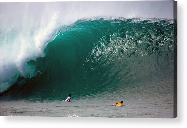 Banzai Pipeline Acrylic Print featuring the photograph Pipeline Wave Hawaii by Kevin Smith