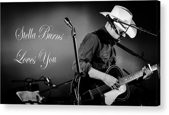 Guitar Acrylic Print featuring the photograph Stella Burns Loves You by Andrea Mazzocchetti
