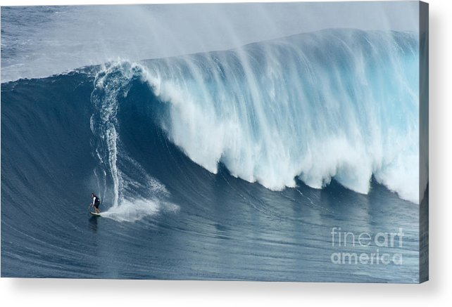 Surf Acrylic Print featuring the photograph Surfing Jaws 5 by Bob Christopher