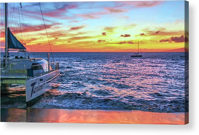 Hawaii Acrylic Print featuring the photograph Teralani Sunset by Robert Aycock