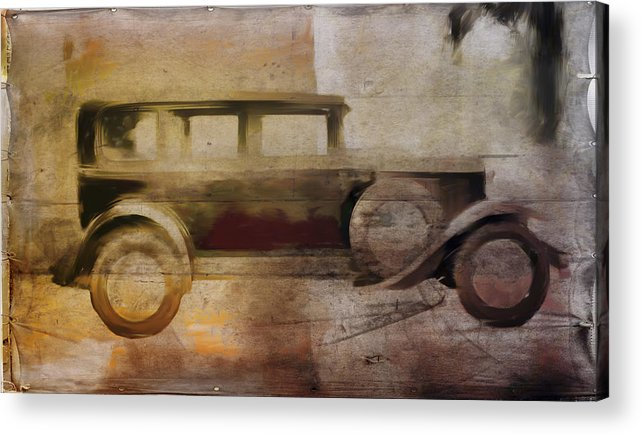 Vintage Acrylic Print featuring the digital art Vintage Buick by David Ridley