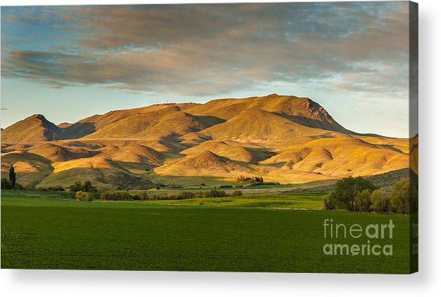 Gem County Acrylic Print featuring the photograph West Side Of Squaw Butte by Robert Bales