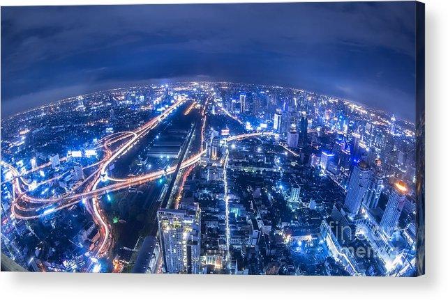 Apartment Acrylic Print featuring the photograph Bangkok City by Anek Suwannaphoom