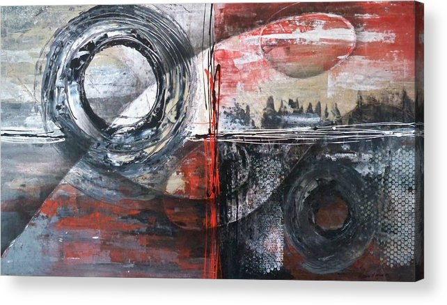 Abstract Acrylic Print featuring the painting Destination Unknown by Maximo Pizarro