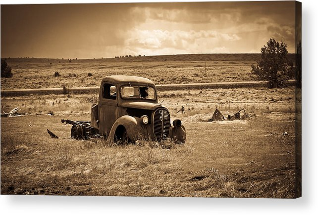Ford Truck Acrylic Print featuring the photograph 1938 Ford Pickup by Steve McKinzie