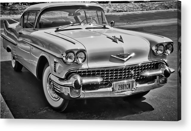 1957 Cadillac 57 Classic American Car Auto Automobile Vehicle Acrylic Print featuring the photograph 1957 Cadillac by Richard Marquardt