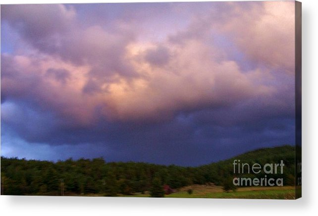 Acrylic Print featuring the photograph A Storm Rolls In From The West 34 by Peggy Miller