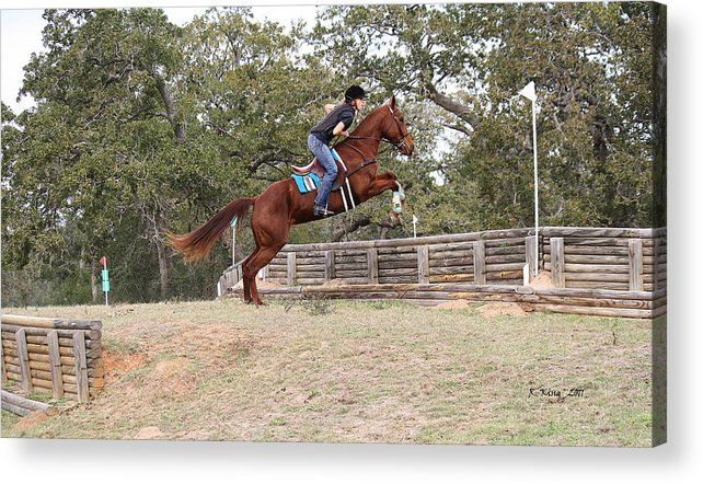 Roena King Acrylic Print featuring the photograph Double Up Hill Jump by Roena King