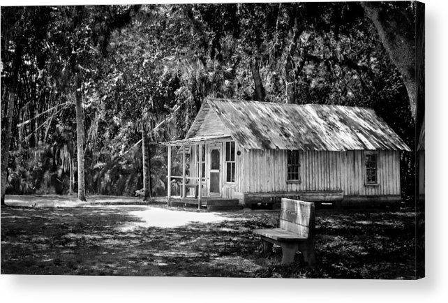 House Acrylic Print featuring the photograph House In The Woods by Mike Rivera