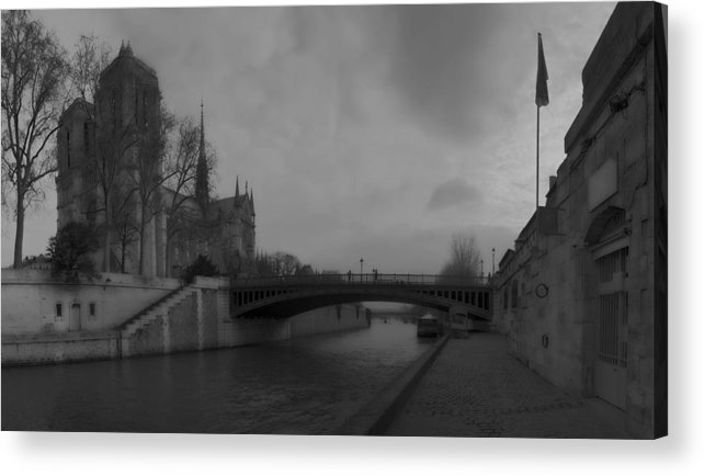 Paris Acrylic Print featuring the photograph La Seine Dh 1 by Wessel Woortman