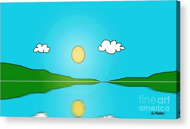 Sky Acrylic Print featuring the painting Reflection 3 by George Pedro