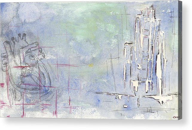 Heart Acrylic Print featuring the mixed media Ruminations On The Grandeur That Was Rome by Chris Ortega