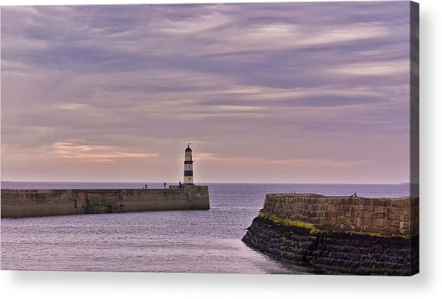 Seaham Acrylic Print featuring the photograph Seaham Harbour by Trevor Kersley