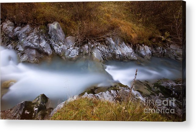 Soft Acrylic Print featuring the photograph Soft Waters by Angel Ciesniarska