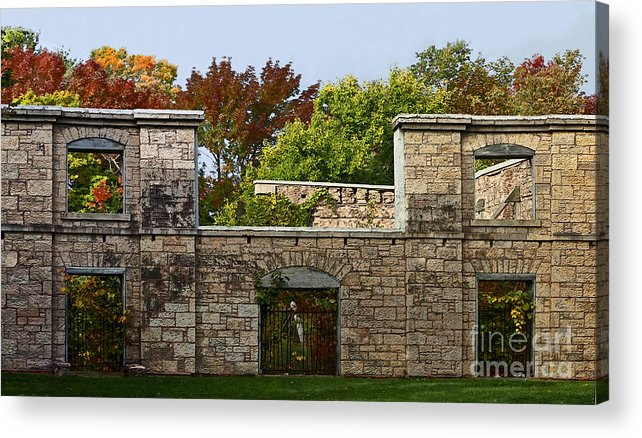 Facade. Architecture Acrylic Print featuring the photograph The Hermitage by Barbara McMahon