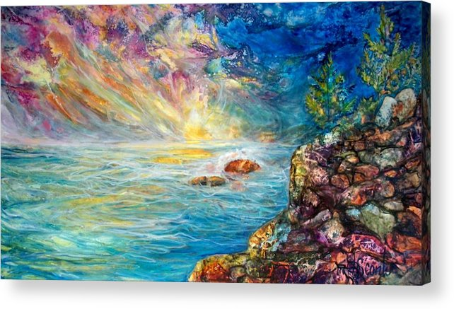 Seascape Acrylic Print featuring the painting Ascension by Mary Sonya Conti