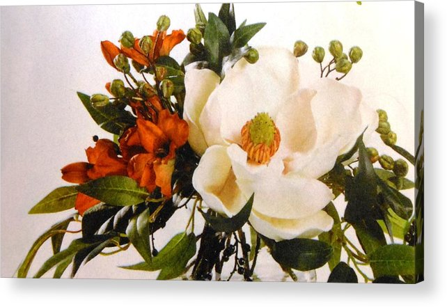 Flowers Acrylic Print featuring the photograph Flowers 3 by Lord Frederick Lyle Morris