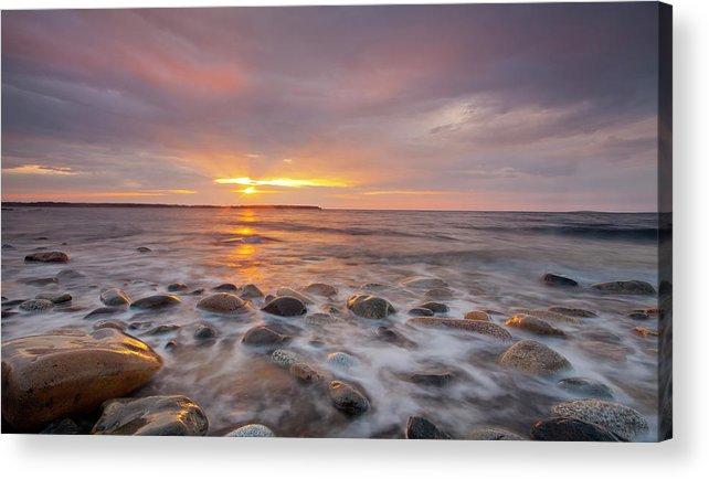 Seawall Acrylic Print featuring the photograph Seawall Sunrise by Scott Bryson