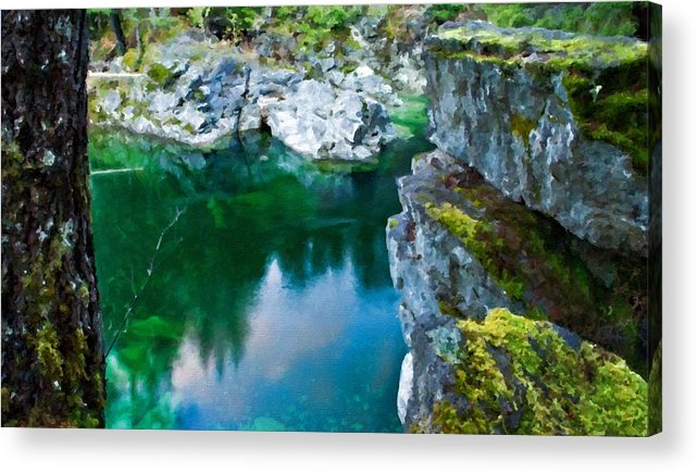 C Acrylic Print featuring the digital art R G Landscape by Malinda Spaulding