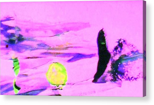 Vast Space Acrylic Print featuring the painting Almost Empty Serenity by Bruce Combs - REACH BEYOND