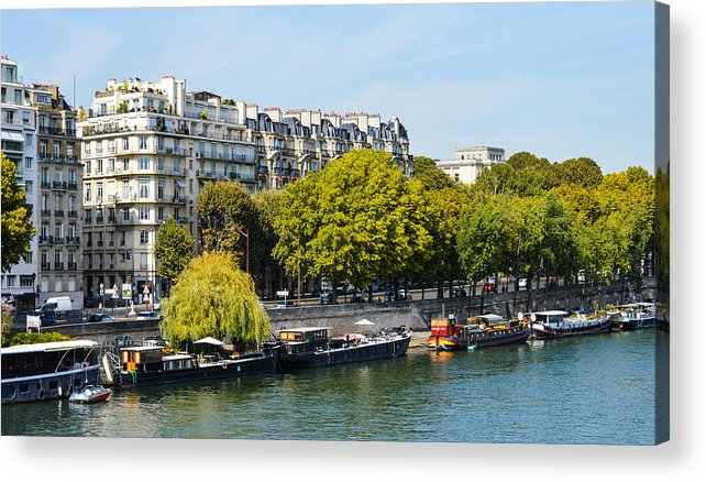 Paris Acrylic Print featuring the photograph Along The Seine by Lynn Marlborough