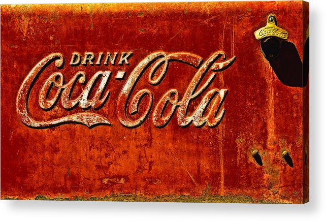 Ice Box Acrylic Print featuring the photograph Antique Soda Cooler 3 by Stephen Anderson