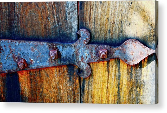 Hinge Acrylic Print featuring the photograph Beautifully Old by Lori Leigh