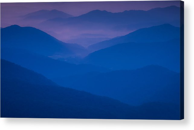 Blue Acrylic Print featuring the photograph Blue Sunset by Reid Northrup