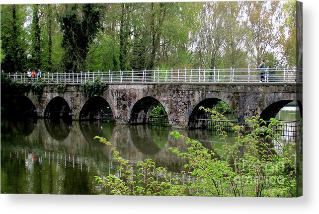 Bruges Acrylic Print featuring the photograph Bruges Bridge 2 by Randall Weidner