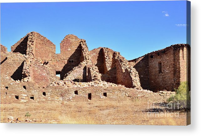 Chaco Canyon Acrylic Print featuring the photograph Chaco Ruins by Debby Pueschel