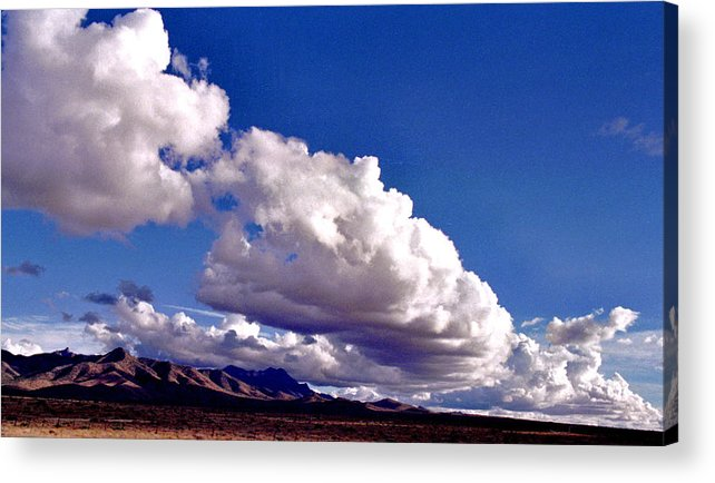 Landscape Acrylic Print featuring the photograph Clouds Marching by Randy Oberg
