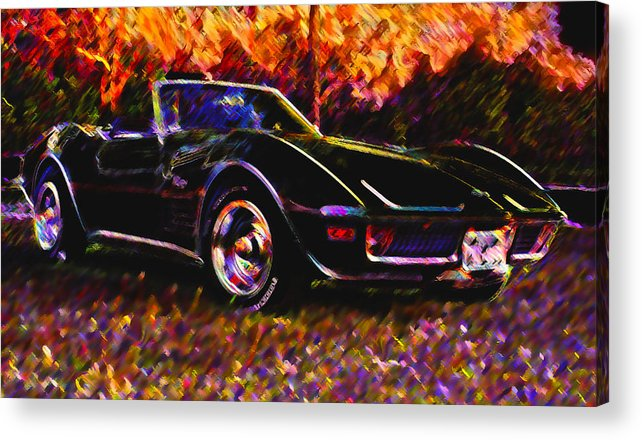 Corvette Acrylic Print featuring the photograph Corvette Beauty by Stephen Anderson
