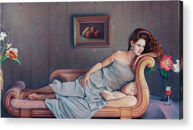 Chaise Acrylic Print featuring the painting Daydream Believer by Patrick Anthony Pierson