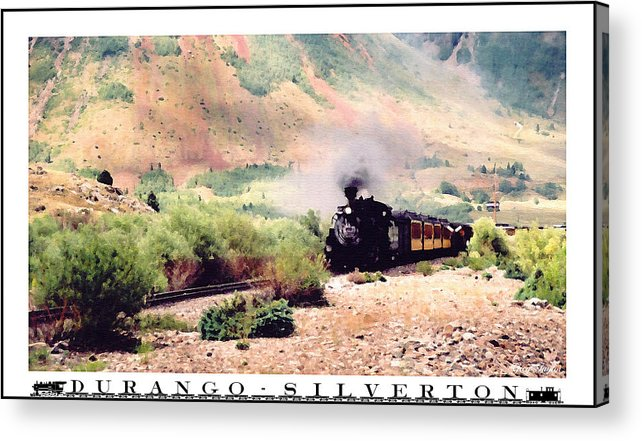 Photo Painting Acrylic Print featuring the photograph Durango-silverton Train by Greg Taylor
