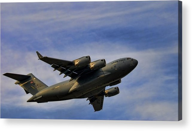 Elmendorf Acrylic Print featuring the photograph Elmendorf Third Wing by Steven Richardson