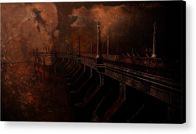 Fire Acrylic Print featuring the photograph Fire At Diablo by Jeff Burgess