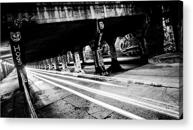 Black And White Acrylic Print featuring the photograph Krog Street Bridge by Zachary Bale