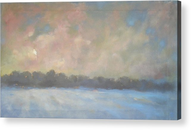 Acrylic Print featuring the painting Last Light by Mary Brooking
