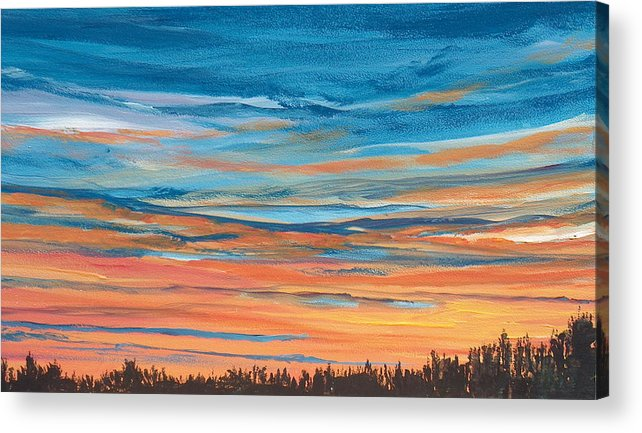 Landscape Acrylic Print featuring the painting Mornin IIi by Pete Maier